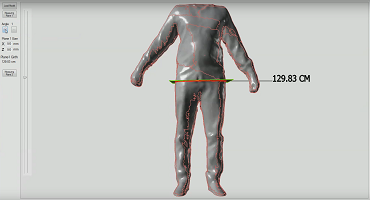 3D measurement scanned body