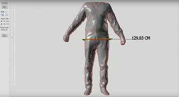3D measurement scanned body