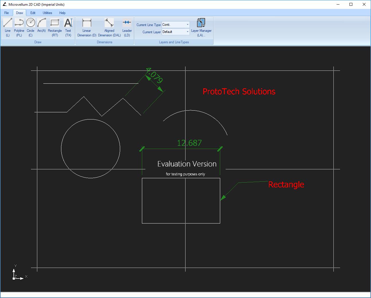 2D CAD Application Development