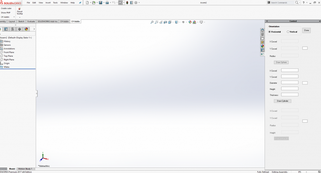 Custom GUI Solidworks, Solidworks API, CAD Software