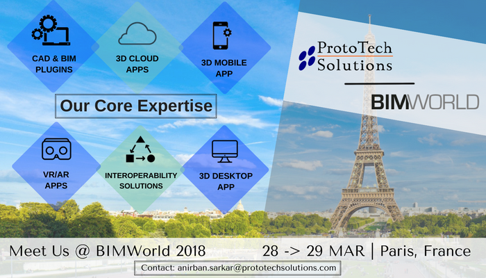 Meet ProtoTech Team in BIM World Paris 2018 - Prototech