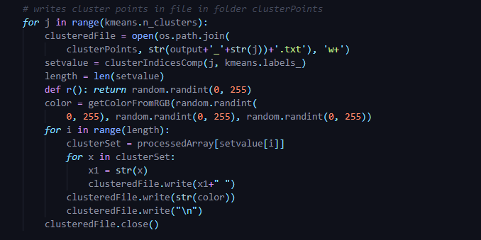 Extract clusters from cluster centers